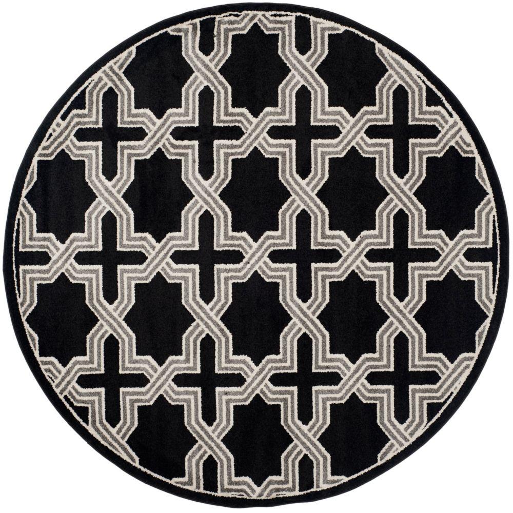 Safavieh Amherst Marist Anthracite / Grey 7 ft. x 7 ft. Indoor/Outdoor Round Area Rug