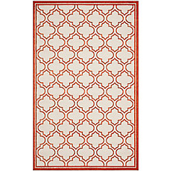 Safavieh Amherst Shirley Ivory / Orange 6 ft. x 9 ft. Indoor/Outdoor Area Rug