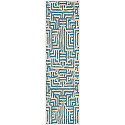 Safavieh Amsterdam Francesca Ivory / Light Blue 2 ft. 3-inch x 8 ft. Indoor Runner