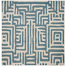 Safavieh Amsterdam Francesca Ivory / Light Blue 6 ft. 7-inch x 6 ft. 7-inch Indoor Square Area Rug