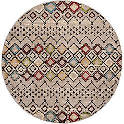 Safavieh Amsterdam Susan Light Grey / Multi 6 ft. 7-inch x 6 ft. 7-inch Indoor Round Area Rug