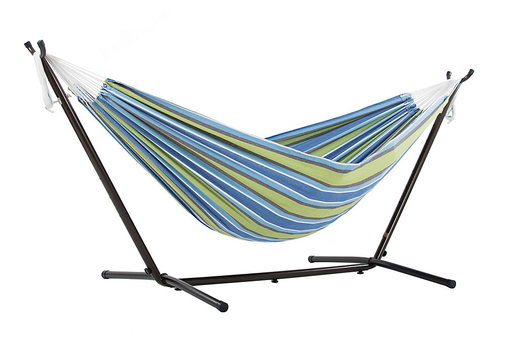 811cf8bb9e8 Vivere Ltd Double Oasis Hammock with Stand (9 ft. ) | The Home Depot ...