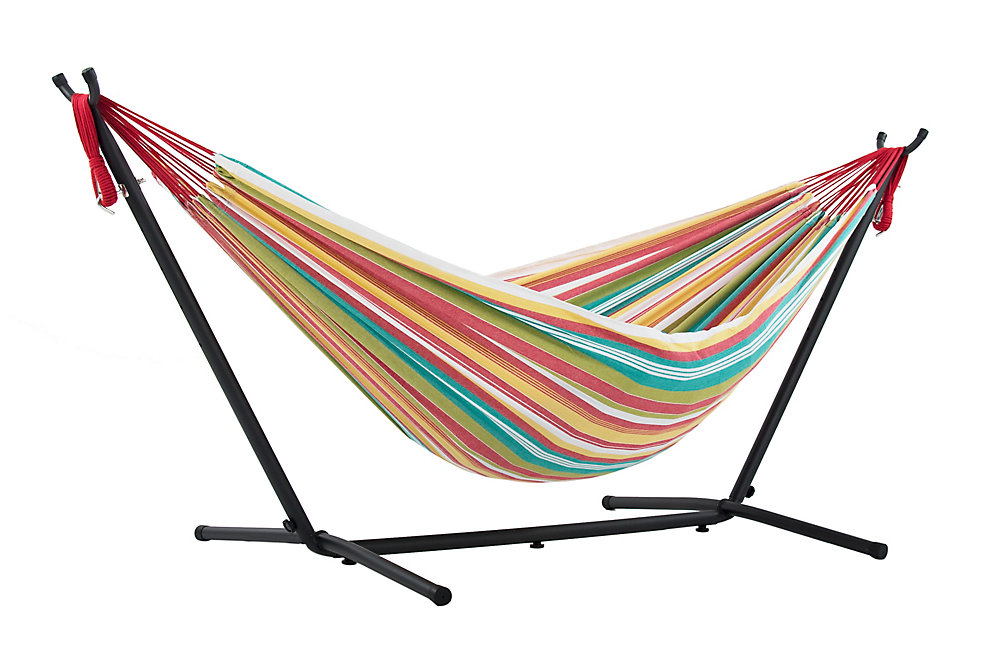 0dbb20025fe Vivere Ltd Double Salsa Hammock with Stand (9 ft. ) | The Home Depot ...