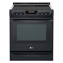 LG Electronics 6.3 cu. ft. Electric Slide-In Range with ProBake Convection in Matte Black Stainless Steel