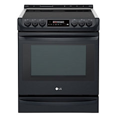 6.3 cu. ft. Electric Slide-In Range with ProBake Convection in Matte Black Stainless Steel