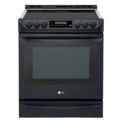 LG Electronics Cuisinière électrique encastrée avec ProBakeConvection, 6,3pi³, acier inoxydable noir