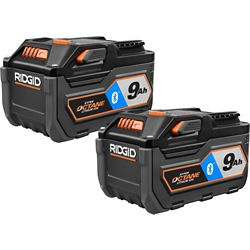 RIDGID 18V HYPER OCTANE Bluetooth 9.0Ah Battery (2-Pack)