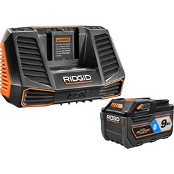 RIDGID 18V OCTANE 9.0 Ah Lithium-Ion Battery and Charger Kit