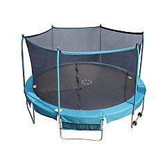 Deluxe 15 ft. Round Trampoline and Enclosure Combo with Shoe Bag and Roll-Away Wheels