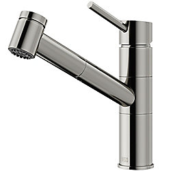 VIGO Branson Single-Handle Pull-Out Sprayer Kitchen Faucet in Stainless Steel