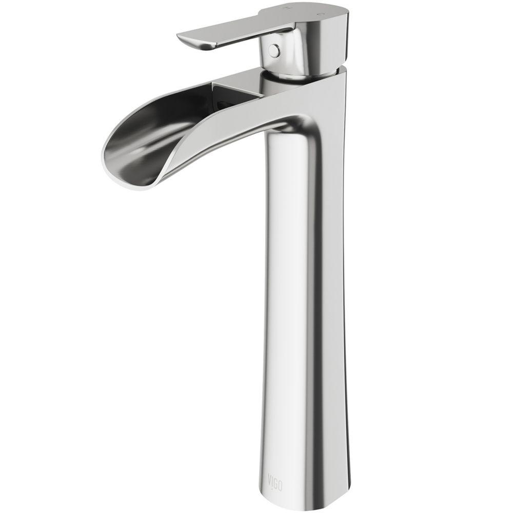 EUB Black Painting Bathroom Waterfall Faucet Vessel Sink Mixer Tap Single Handle