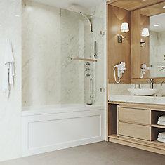 Rialto Bathtub Door in Chrome