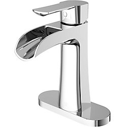 VIGO Paloma Single Hole Single-Handle Bathroom Faucet with Deck Plate in Chrome