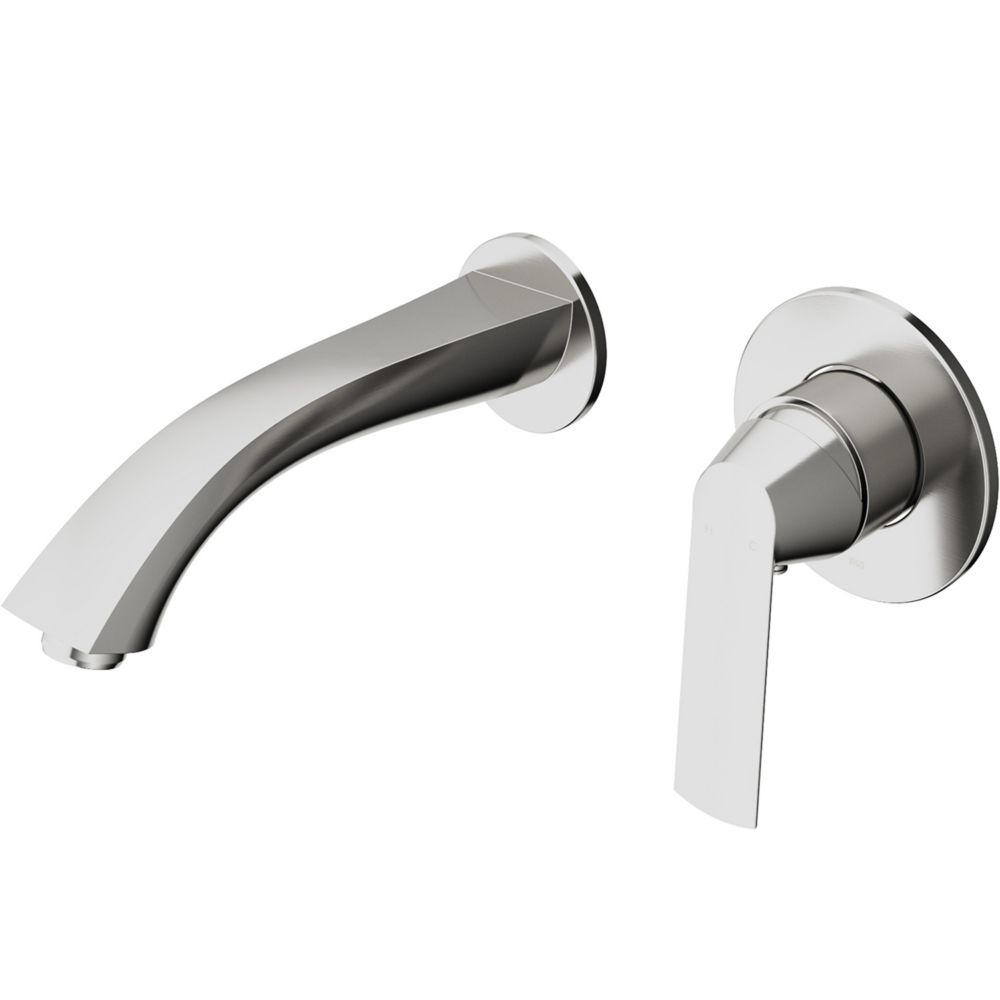 Vigo Aldous Wall Mount Bathroom Faucet In Brushed Nickel