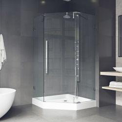 VIGO Ontario Frameless Neo-Angle Shower Enclosure With Base