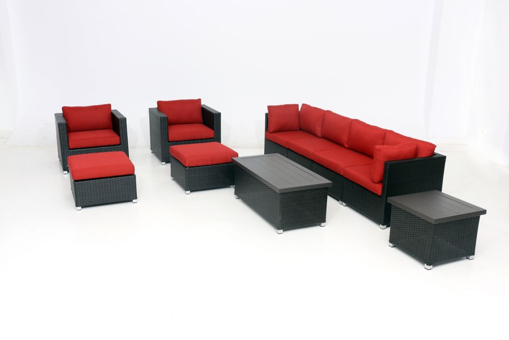 Sunset Patio Innesbrook Collection 10.1 with Red Cushions