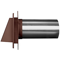 Mid America 4 inch Hooded Dryer Vent 55 Spice/Mahog