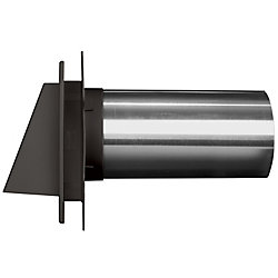 Mid America 4 inch Hooded Dryer Vent Manor/Tux Grey