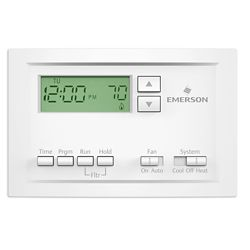 Emerson Programmable Single-Stage Thermostat with 5-1-1 Day Scheduling