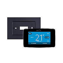 Emerson Sensi 7-Day Programmable Touch Wi-Fi Thermostat and Wall Plate Bundle