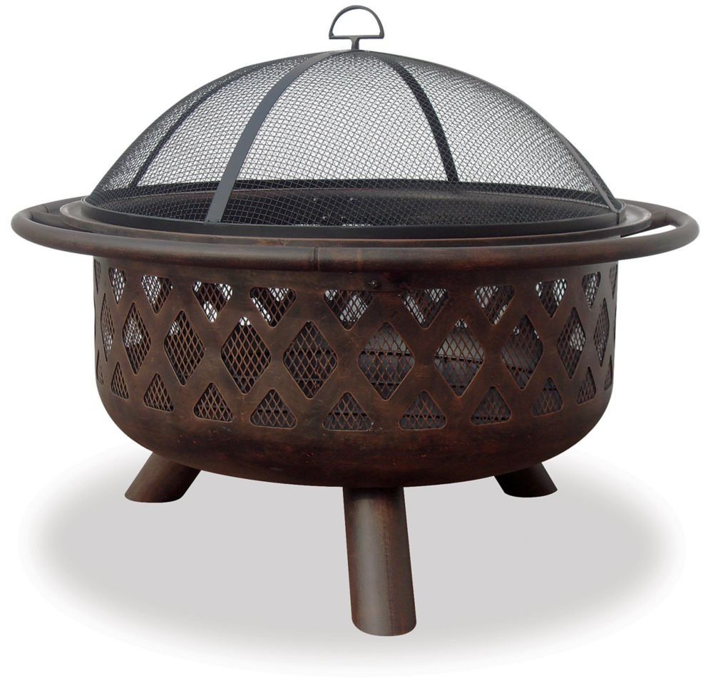 Blue Rhino Endless Summer 36 inch Wide Oil Rubbed Bronze Fire bowl with Lattice Design
