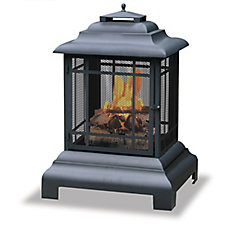 UniFlame Black Outdoor Firehouse