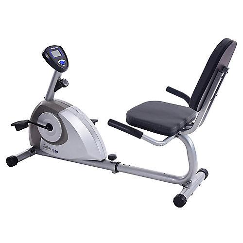 Vélo d'exercice magnétique à position allongée 1350
