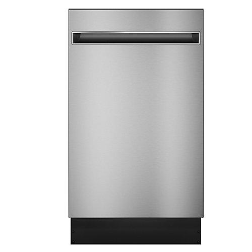 Lave-vaisselle encastré en acier inoxydable avec cuve en acier inoxydable de 18 po à commande supérieure
