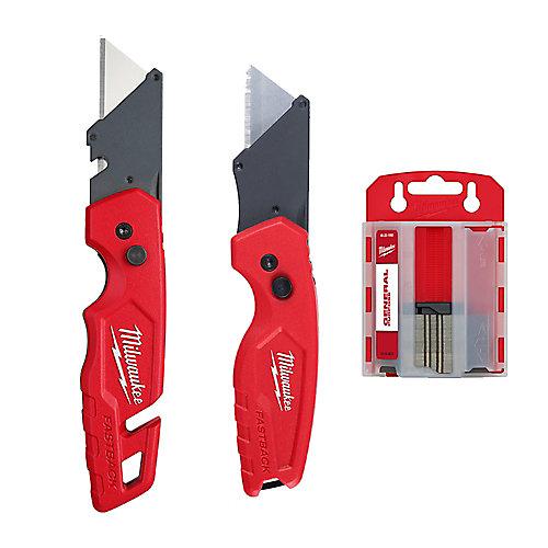 FASTBACK Utilty Flip Knife (2-Pack) with Bonus 50 Blades