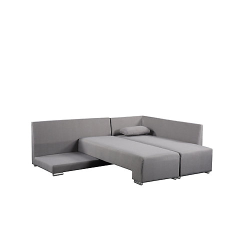 Villars Convertible Polyester Fabric Sleeper Sofa