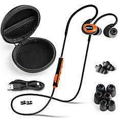 Écouteurs-boutons suppresseurs de bruit Bluetooth PRO - orange sécurité