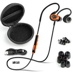 ISOtunes PRO Bluetooth Noise-Isolating Earbuds - Safety Orange