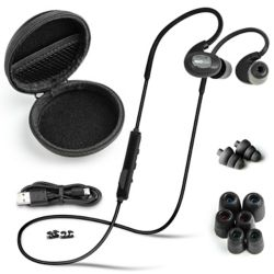ISOtunes PRO Bluetooth Noise-Isolating Earbuds - Matte Black