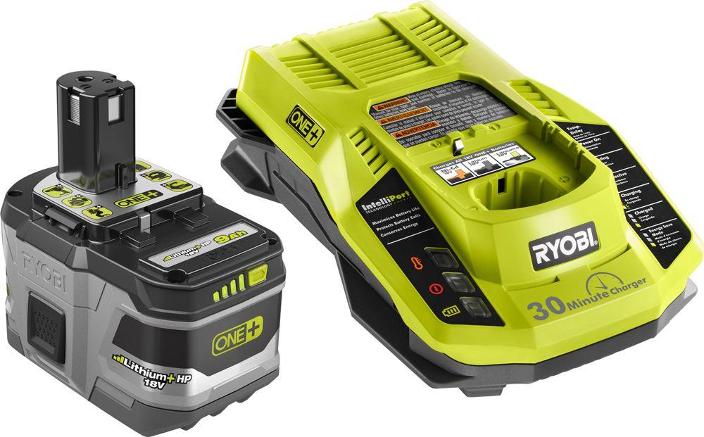 RYOBI 18V ONE+ 9Amp Battery Starter Kit