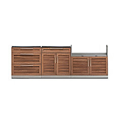Outdoor Kitchen Grove  3-Piece 104 inch W x  36.5 inch H x 24 inch D  Cabinet Set