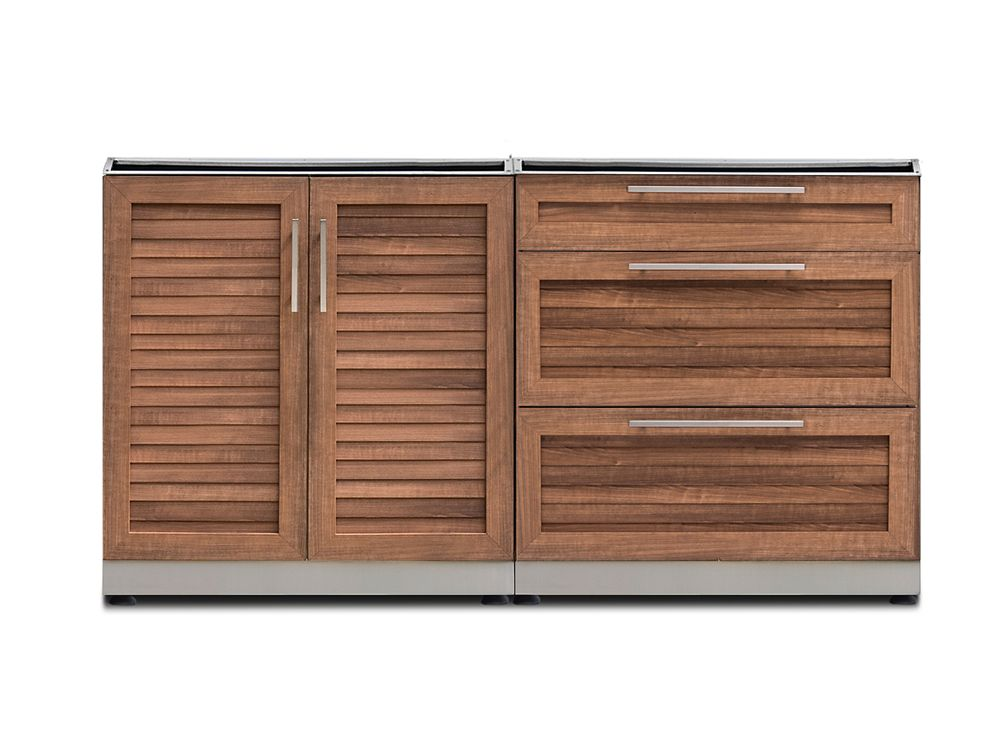 Newage Products Inc Outdoor Kitchen Grove 2 Piece 64 Inch W X 36 6 H 24 D Cabinet Set