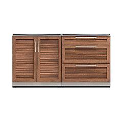 Outdoor Kitchen Grove  2-Piece 64 inch W x  36.6 inch H x 24 inch D  Cabinet Set