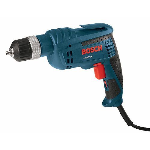 Bosch Perçage à vitesse variable avec mandrin sans clé à cliquet Jacobs de 3/8po 6,3A