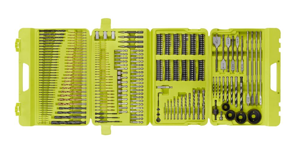 Ryobi Multi-Material Drill and Drive Kit (300-Piece) with Case A983002