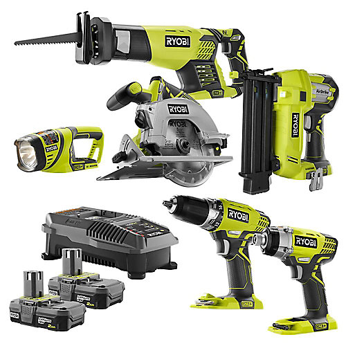 18V ONE+ Li-Ion Cordless Combo Kit (6-Tool) with (2) 2.0 Ah Batteries