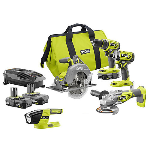 18V ONE+ Brushless Cordless Combo Kit (5-Piece)