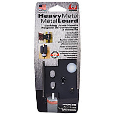 Heavy Metal Locking Jamb Handle in Black - 1pk