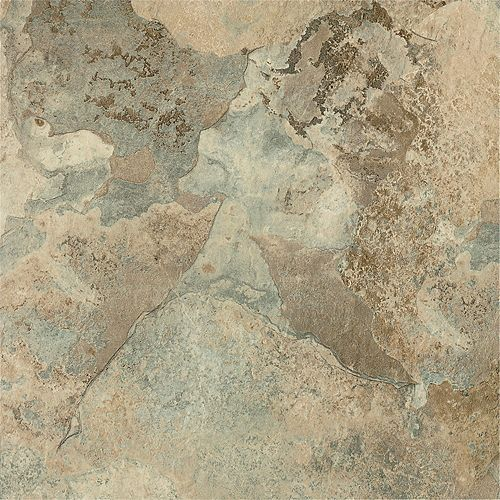 TrafficMASTER 12-inch x 12-inch Beige Stone Peel and Stick Vinyl Tile Flooring (30 sq.ft. / case)