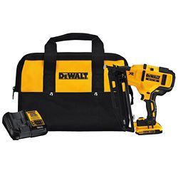 DEWALT Kit de cloueuse de finition sans fil 20V de calibre 16