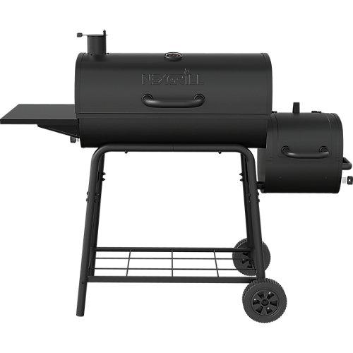 29-inch Barrel Charcoal Smoker & BBQ in Black