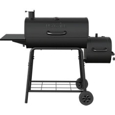 29 -inch Barrel Charcoal Smoker & BBQ in Black
