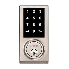 Elements Keyless Entry Touchscreen Electronic Deadbolt in Satin Nickel