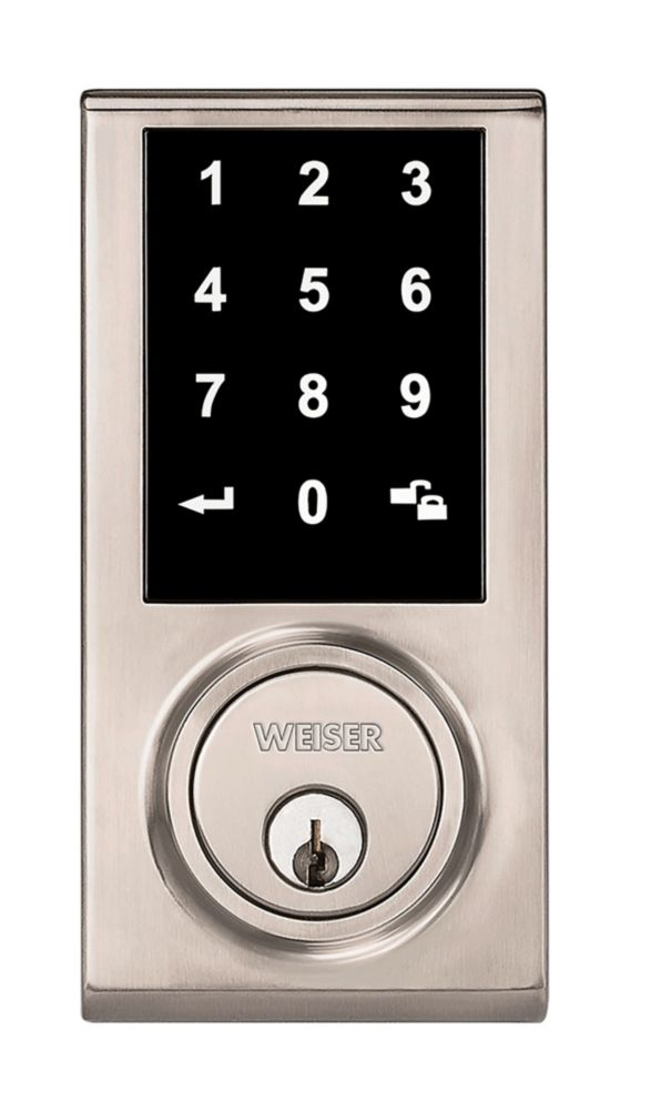 Weiser Elements Keyless Entry Touchscreen Electronic Deadbolt in Satin Nickel