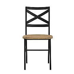 Walker Edison Modern Industrial Farmhouse Dining Chairs, Set of 2 - Barnwood
