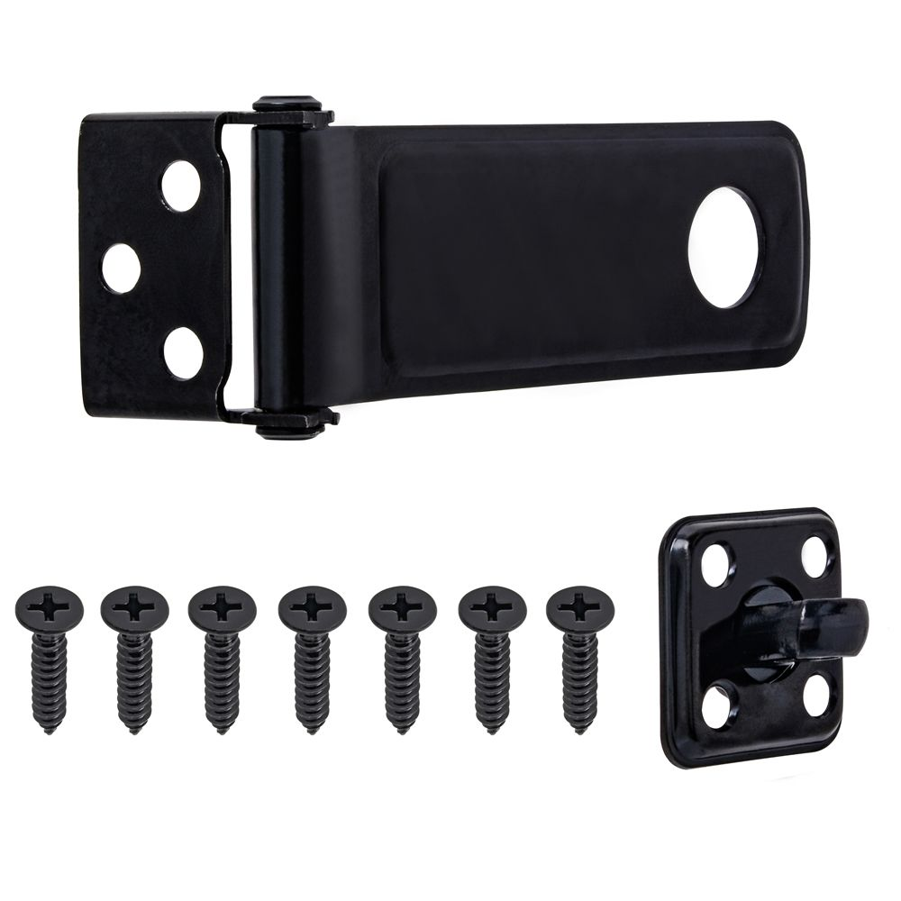 4-1/2-inch Latch Hasp in Black - 1pk